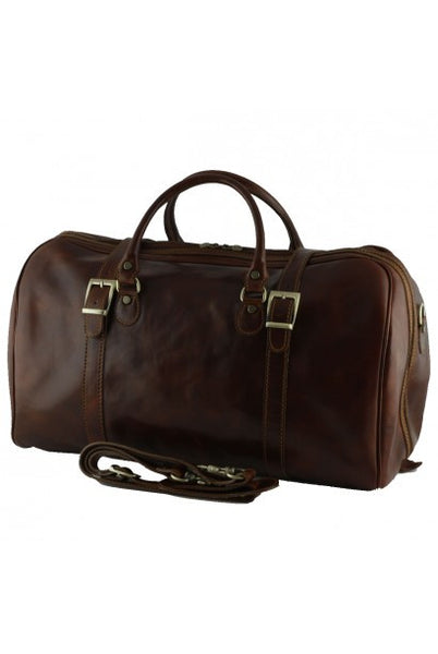"""Made In Italy"" Leather Hand Luggage Bag - Piccadilly Circus - Dark brown - Large Purse Shop - 4"