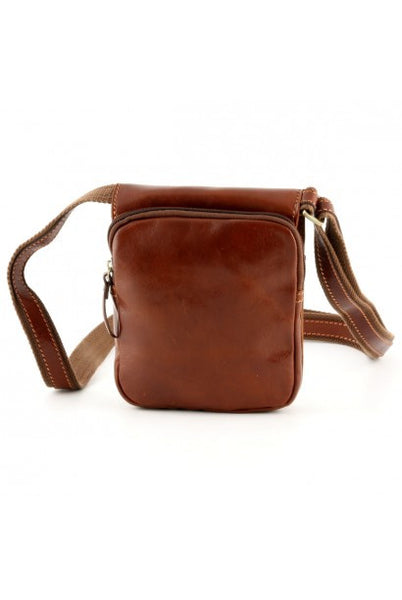 """Made In Italy"" Leather Man Bag - Museo Malindi - Leather Man Bags Large Purse Shop"