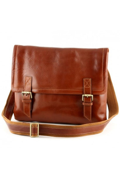 """Made In Italy"" Men's Leather Messenger,  Shoulder Bag - Robben Island -  - Large Purse Shop - 3"