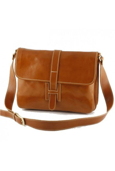 """Made In Italy"" Leather Messenger Bag, Man Bag - Sinclair - Leather Man Bags Large Purse Shop"