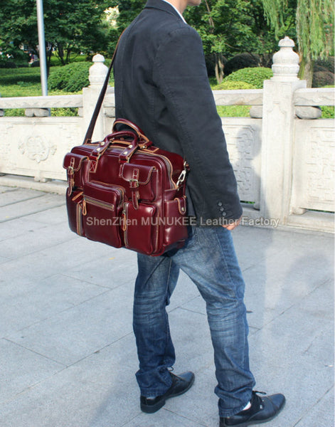 Luxury Italian Leather Men's Luggage Bag