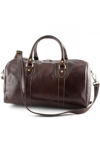 """Made In Italy"" Leather Hand Luggage Bag - Lonja de la Seda - Leather Hand Luggage Large Purse Shop"