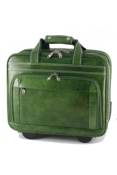 """Made In Italy"" Leather Hand Luggage Bag/Trolley - Van Brienenoord - Leather Hand Luggage Large Purse Shop"