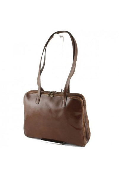 """Made In Italy"" Woman's Leather Briefcase - Volkerschlachtdenkmal - Leather Briefcase Large Purse Shop"