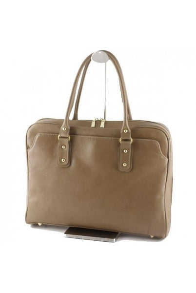 """Made In Italy"" Woman's Leather Briefcase - Metropolitan - Leather Briefcase Large Purse Shop"