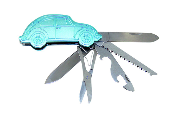 VW Beetle 3D Pocket Knife In Decorative Tin