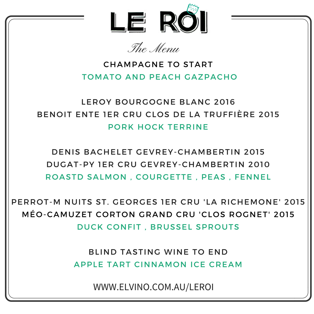 Elvino Burgundy Wine Tasting, French wine, wine tasting dinner, sydney wine tasting, french