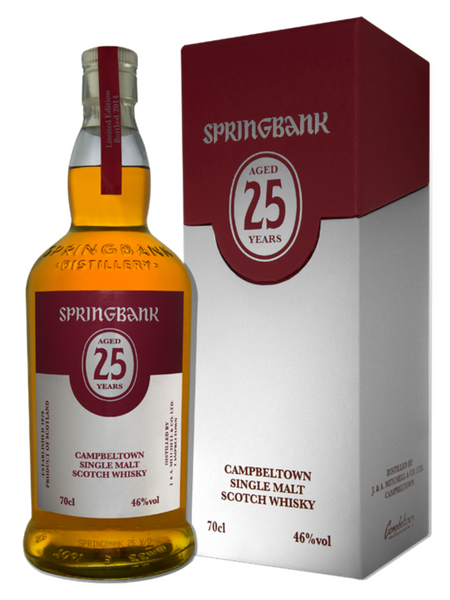 Springbank 25 Year Old Whisky