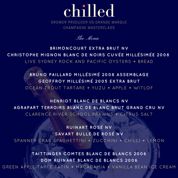Chilled: Champagne Masterclass Dinner