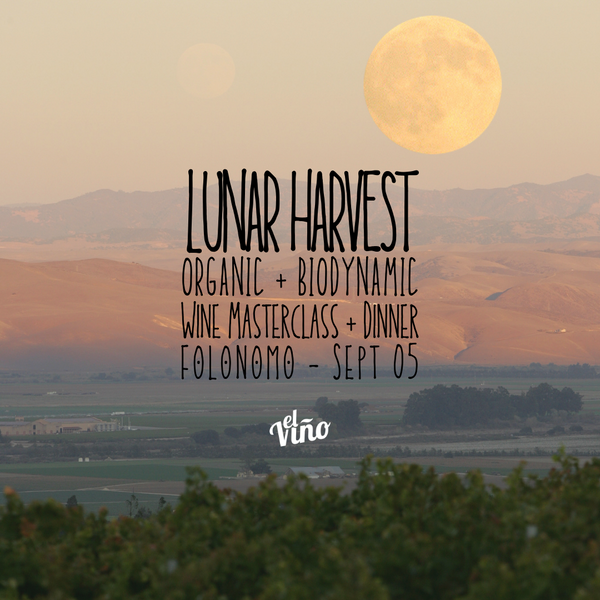 Lunar Harvest: Biodynamic and Organic Wine Masterclass Dinner (Early Bird Special)
