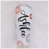 All You Need is Love and a Donut Glitter Tumbler