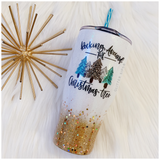 Rocking Around the Christmas Tree Glitter Tumbler
