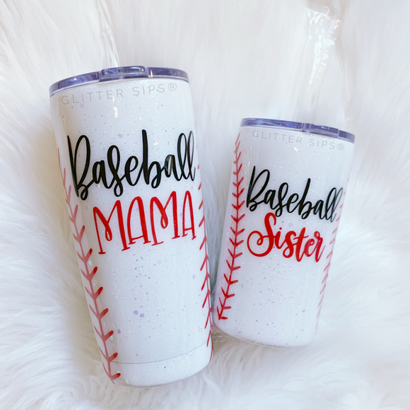 Mommy and Me Baseball Tumbler Set