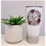Fire In Her Soul and Grace In Her Heart Glitter Tumbler
