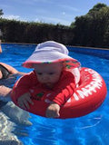 Grace is only 3.5 months and loves swimming in her nanna's pool. She gets excited before she even goes in the pool!