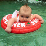 Jax (3 months) thought his swimtrainer was great! He loved swimming alongside his sisters!