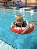 Thijn loves his swimtrainer! What a great product. He is only 10 months old and already trying to swim. Thanks!