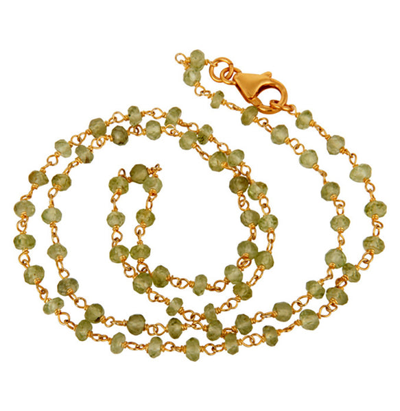 jewelry beads from chain gems chains making natural beaded necklaces item for new borosa in labradorite long faceted necklace