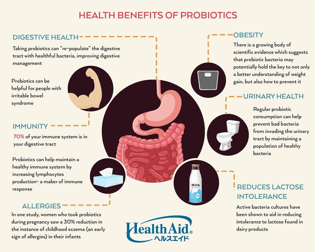 6 ways how Probiotics can contribute to your health