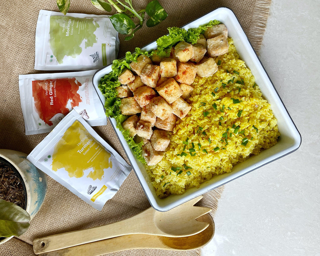 Immune Boosting Herbilogy Recipe: Tofu + Curried Rice
