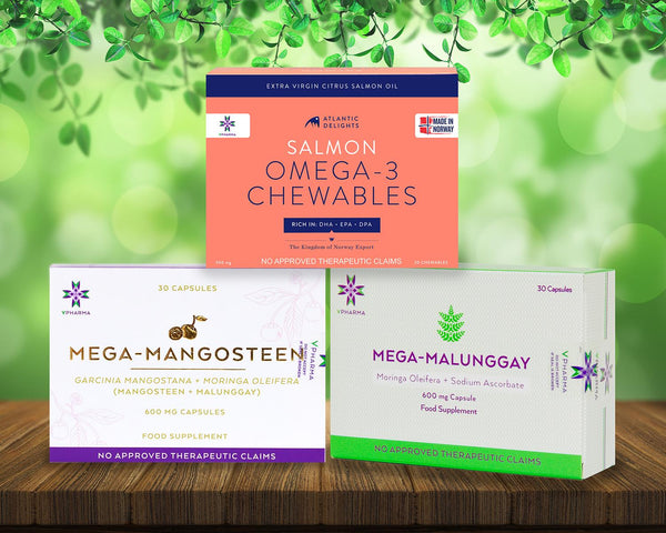 Mega-Malunggay 30s + Mega-Mangosteen 30s + Atlantic Delights 30s Bundle