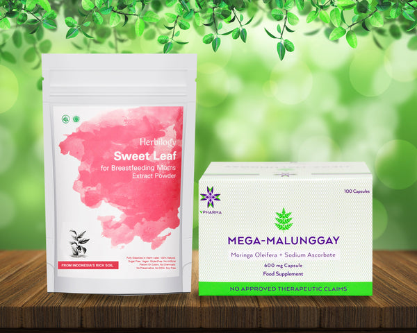 Mega-Malunggay 100's + Herbilogy Sweet Leaf Extract Powder Bundle