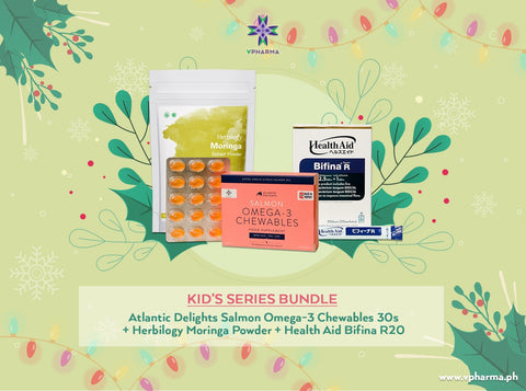 Kids Series bundle: Atlantic Delights + Herbilogy Moringa Extract Powder + HealthAid Bifina R20