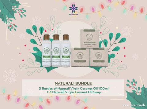 Naturali bundle: 3 VCO 100ml + 3 VCO soap