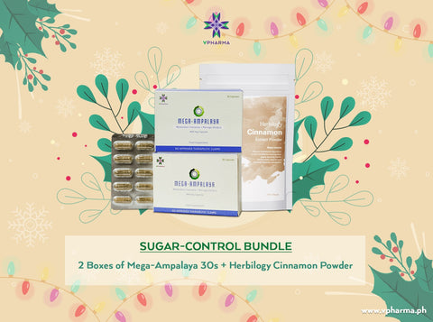 Sugar control bundle:  2 Mega-Ampalaya + Herbilogy Cinnamon extract powder