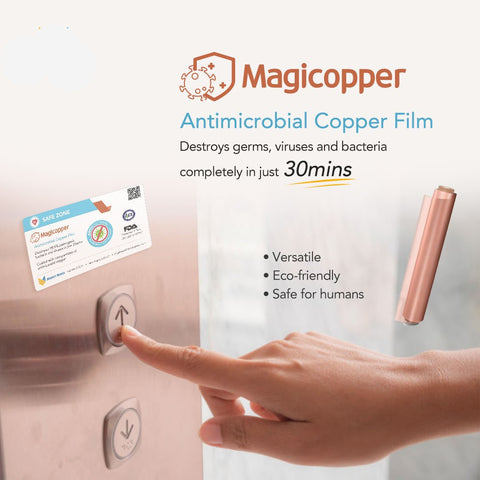 MagiCopper Antimicrobial Copper Film 10 meters (Adhesive Type)