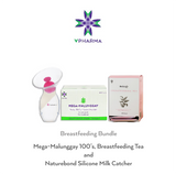 Breastfeeding Bundle Mega-Malunggay 100's + Herbilogy Breastfeeding Tea + Naturebond Silicone Milk Catcher