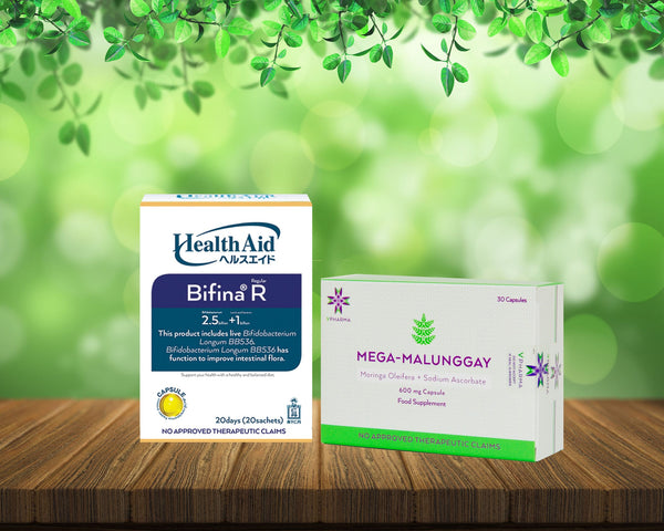 Mega-Malunggay 30's + Health Aid Bifina R20 Bundle for sale | VPharma