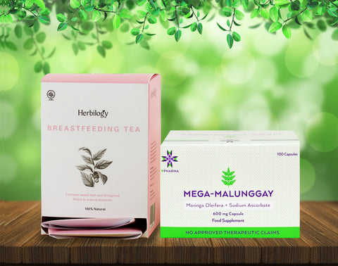 Mega-Malunggay 100's + Herbilogy Breastfeeding Tea Bundle for Sale | VPharma