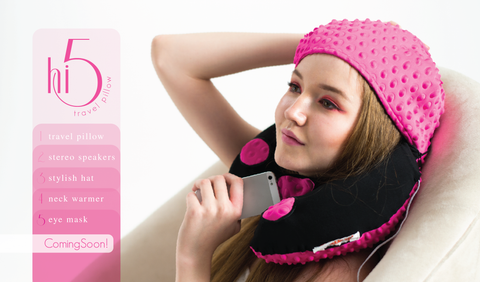 NEW! hi5 travel pillow with speaker!