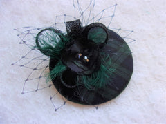 black watch tartan cocktail hat fascinator
