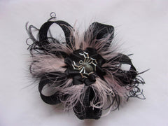 black sinamay loop spider fascinator headpiece gothic wedding halloween