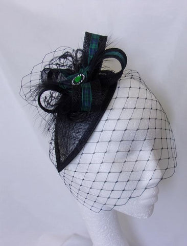 tartan fascinator for burns night or highlands wedding