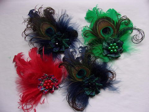 tartan feather brooches for burns night