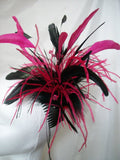 Black Layla - Large Mixed Feather & Crystal Fascinator Headpiece - Gothic Diva Wedding Designs