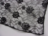 Black Lace Veiling - by the half metre