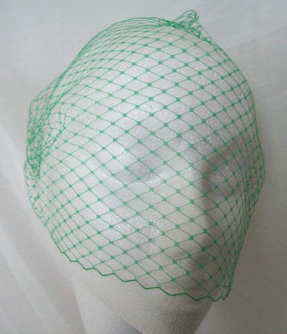 Emerald Absinthe Green Spot or Plain Birdcage Bandeau Wedding Bridal Veil - Gothic Diva Wedding Designs