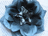 Grey and Black Bat Hair Clip