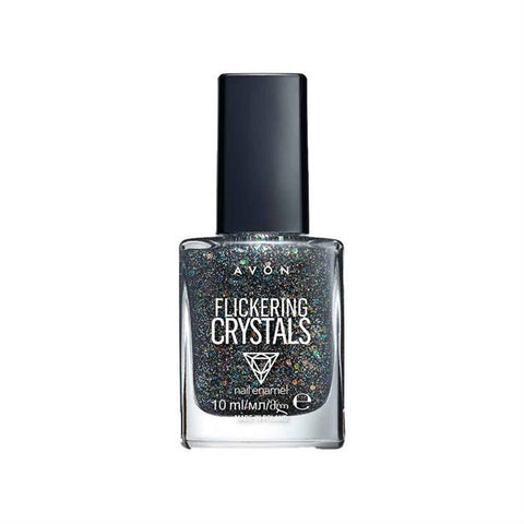Nail Style Studio Crystals hello weekend black glitter nail varnish