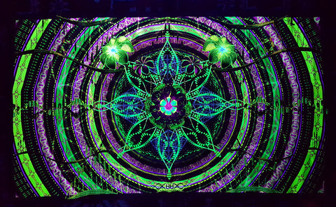 UV Active NEON Canvas Backdrop - Under the Dome 97 x 56 cm