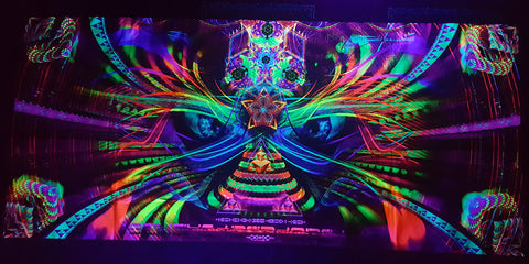 UV Active NEON Canvas Backdrop - Out of the Woodwork 190 x 90 cm