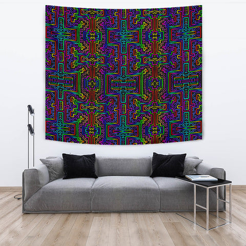 Prismatic Overlay Decorative Tapestry