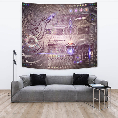 Vortex Dynamics Artwork Tapestry