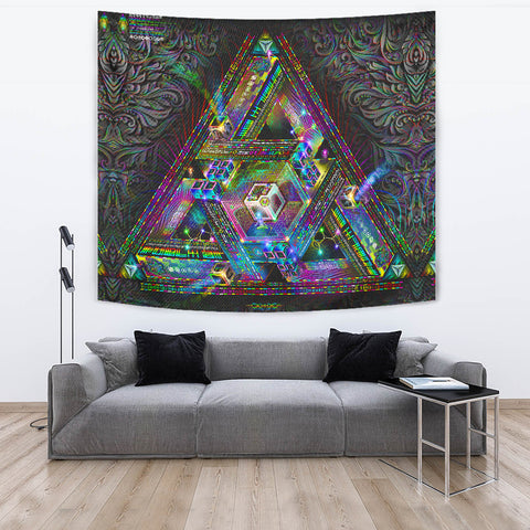 Trinary Transcendence Artwork Tapestry
