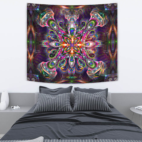 Venusian Cross Artwork Tapestry