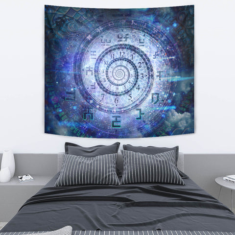 Clockwork Cosmos Artwork Tapestry